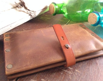 Handmade Leather Wallet * Leather Wallet *Phone Case*Leather Card Holder*Genuine Leather Wallet*Leather Product*Gift For Her*Multifunctional
