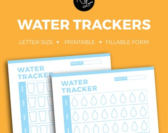 Water Tracker + Editable + Fillable + Printable + Household + Organization + Tracker + Notes + To Do + Coach + Organize + Budget