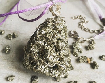 Iron Pyrite (Fools Gold) Necklace