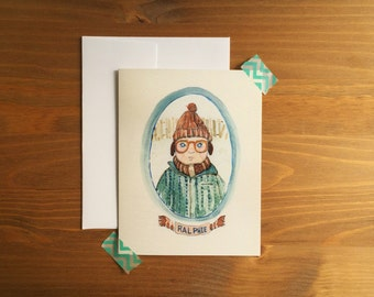 Greeting Card, Ralphie, A Christmas Story, Greeting Card, Xmas Card, Blank Note Card