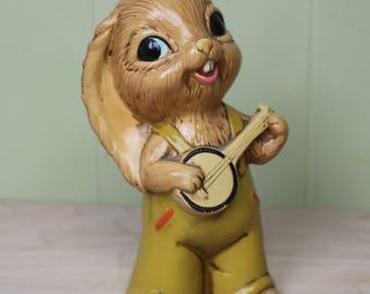 Vintage Banjo Playing Bunny