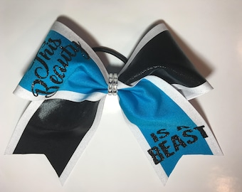 This beauty is a beast cheer bow