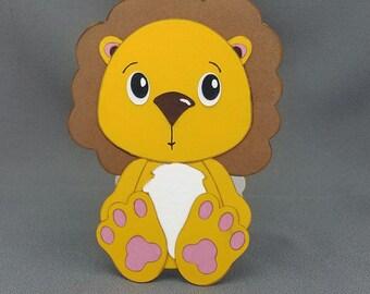 Handmade Lion card