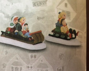 APRILSALE Department 56, Season's Bay, Fun in the Snow, Set of 2, 53323, Collectible