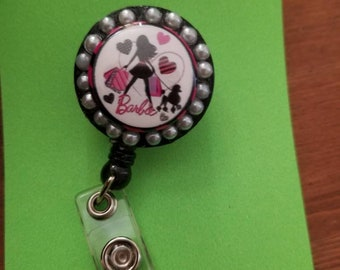 Cute retractable badge holder