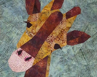 Gina the Giraffe Foundation Paper Piecing Pattern