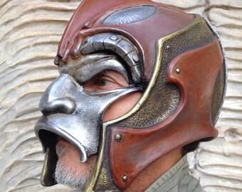 Cosplay Hunter, Halloween Mask, Helmet, Military Armor, Predator Mask, Helmet Larp, Armor Demon Helmet, Armor Props, Paintball Helmet, Mask
