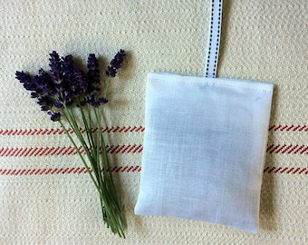 100% Linen French Lavender Bag - Handmade French Lavender Sachet