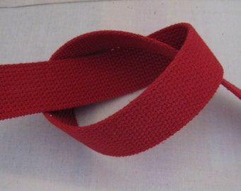 Red Cotton Webbing For Handbags Totes Key Fob Wristlets