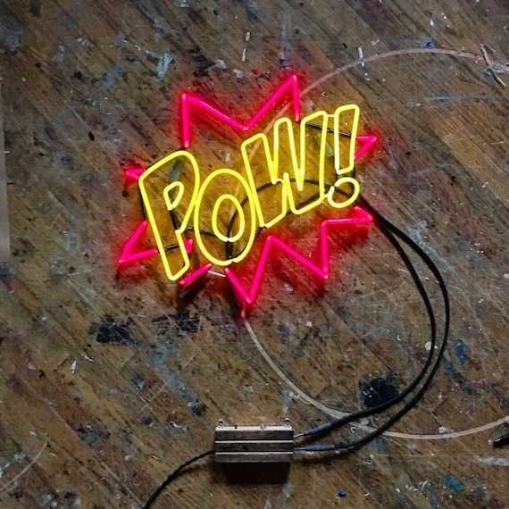 POW! Neon Sign, Ready-made