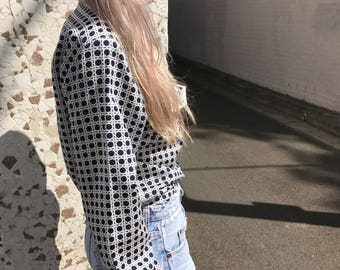 70s Collared Satin Shirt