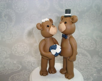 Customized Bear Wedding Cake Topper