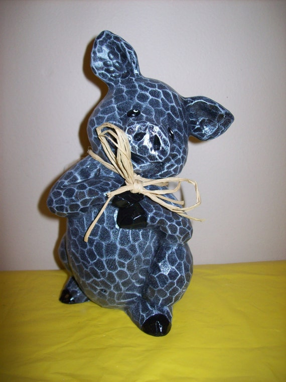 Hand Painted Ceramic Pig Decoration