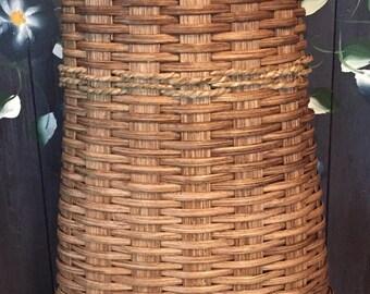 Handmade Basket, Wall Basket, Flower Basket, Seagrass, Hanging Basket, Made in USA