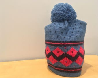 Vintage Wool Ski Hat- One Size made in USA, Land's End