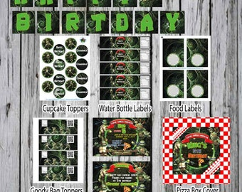Teenage Mutant Ninja Turtle TMNT Birthday Custom Invitation Birthday Party Invitation Theme-TMNT Birthday