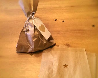 12 bags of groceries in kraft paper - food bag