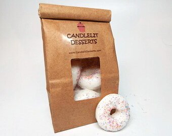 Mini Sprinkle Doughnut Soaps - Eight Pack in a Bakery Bag