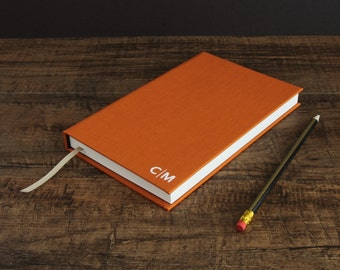 Monogram journal -hardback clothbound book in various contemporary colours