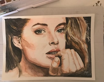 custom made watercolor portrait