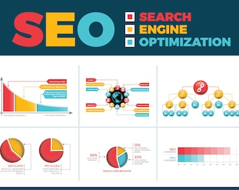 SEO (Search Engine Optimization) Vector Infographic Elements | Instant Download | Digital Files