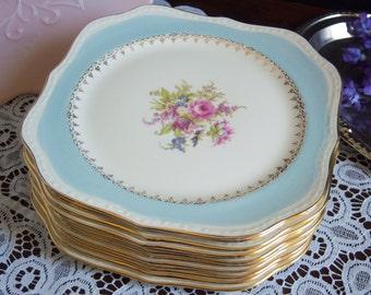 """Homer Laughlin Eggshell Georgian """"Chateau"""" - Square Luncheon Plate - Eggshell Georgian - Homer Laughlin Chateau - Vintage Dinnerware"""
