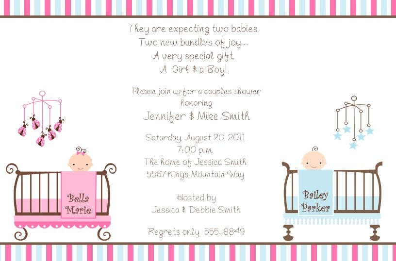 10 twins baby shower invitations with envelopes free return zoom filmwisefo Images