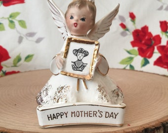Happy Mother's Day Sweet Vintage Angel Figurine