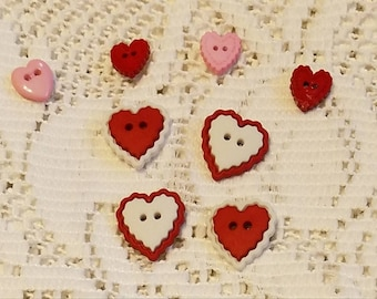 Refrigerator Magnets Set Of Eight Valentine's Heart Gift For Her