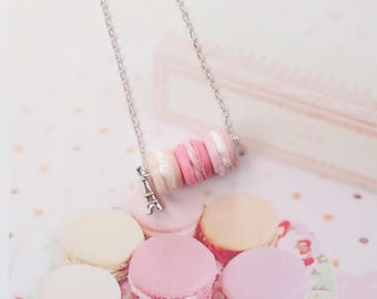 necklace macarons polymer clay