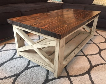 Quick View. Farmhouse Coffee Table With A Vintage French Finish