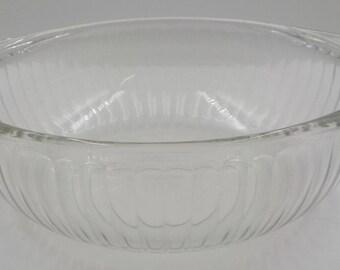 Vintage Glass Pyrex Bowl - Casserole Bowl - Casserole Dish - Clear Glass