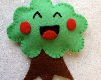 Happy Tree Felt Pin Brooch