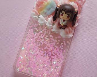 umaru nana glitter fall case for iphone 6/6s/7/8