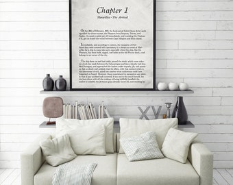 Count of Monte Cristo Print, Alexandre Dumas, Book Page Print, Black and White Print, Library Print, Monochromatic, Book Quote