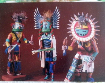 3 Native American Craft Post Cards Sold Together