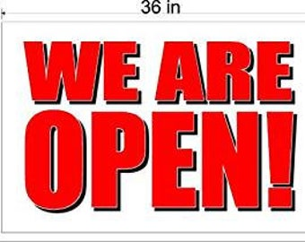 We Are Open Banner Sign, Store Sale Banner, Shop Sale Advertising Grand Opening