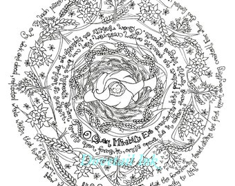 printable st hildegard coloring page for adults or kids catholic art homeschool or re class resource