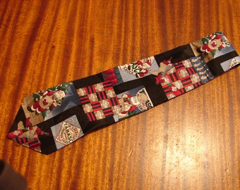 Men's Necktie Tabasco Santa Christmas vintage men's tie