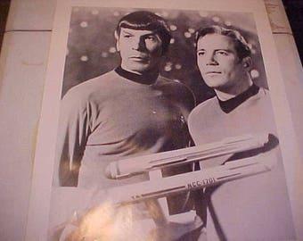 1990s Star Trek First Dr Spock Capt Kirk Movie Poster Captain B&W Exc Condition Rare Argentina Print Old School Decor for Trekkie Fanatic