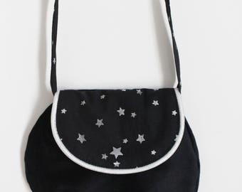 Bag Black and silver girl stars