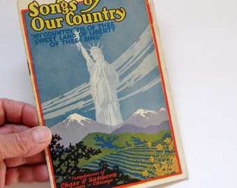 Vintage Chase and Sanborn Coffee Songs of Our Country Book, Advertising, Music Book