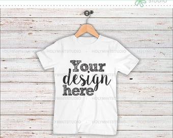 T- Shirt Mockup, Shirt , Wood Background, Mockup, Digital Background, Custom Design Background, White Shirt, Styled Photo, Mock Up