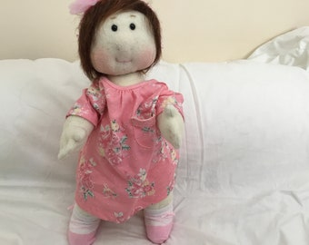 Handmade soft cloth baby doll