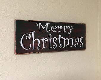 """Christmas sign """"merry Christmas"""""""