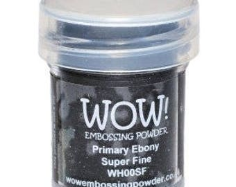 WOW Embossing Powder Primary Ebony Superfine