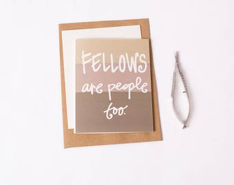 Greeting Card: Fellow People