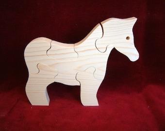 Pony Puzzle, Unfinished Pine