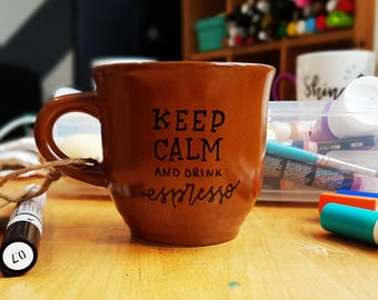 Recycled coffee - Keep calm and drink espresso Cup