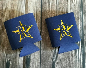 Rangers Can Coolers, Team Spirit Can Cozie, Personalized with Your Team or Company Logo and a Name